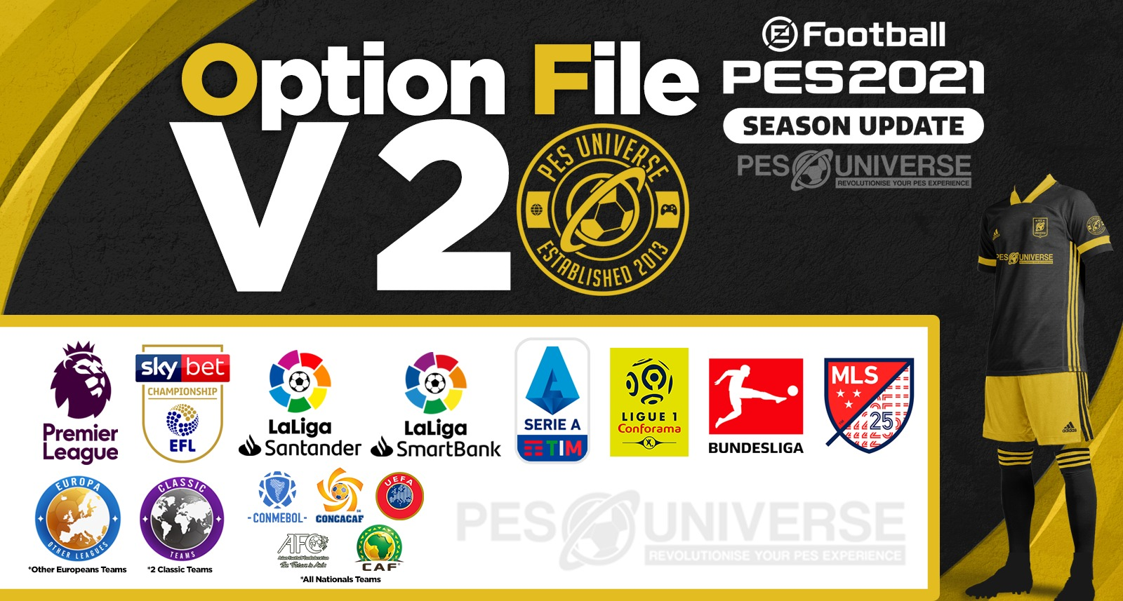 PES 2021 PS4 Option File